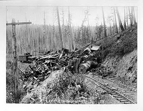 C.P.R. ore train wreck at Phoenix BC2
