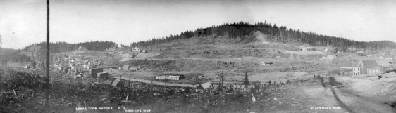Lower town Phoenix, B.C. Brooklyn Mine [and] Stemwinder Mine  Photograph Wm. Hall Level  Reference code AM54-S4-: LP 196.3 Date(s) 1901-1902  Name of creator Matthews, James Skitt, Major (1878-1970)  Donated by Mr. H.C. Fitz James on Jan. 27, 1953.
