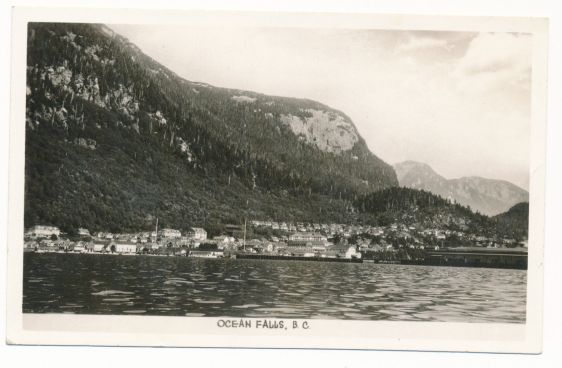 OCEAN FALLS B.C. RPPC GOWER SUTTON WATERFRONT VIEW