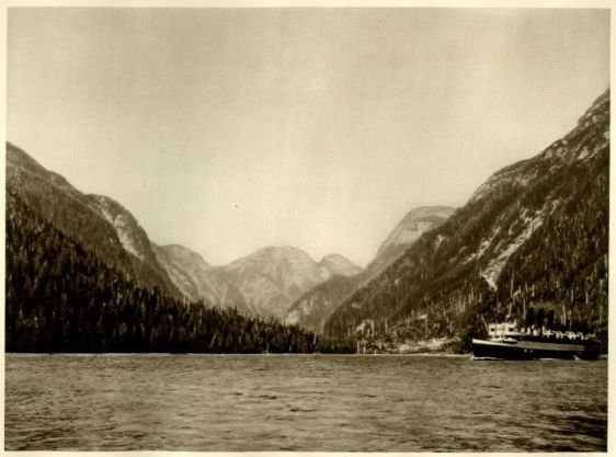Ocean Falls Harbor in British Columbia CANADA1926 Photogravure View