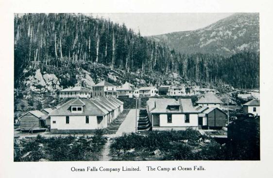 1915 Print Ocean Falls Company Town British Columbia Canada