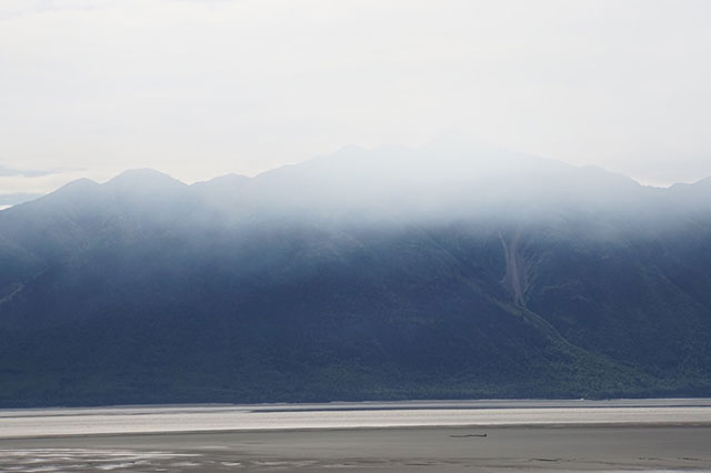 Smoke from a wildfire in Alaska filled dozens of square miles of Alaska's Turnagain Arm recently (Photo: Dahr Jamail)