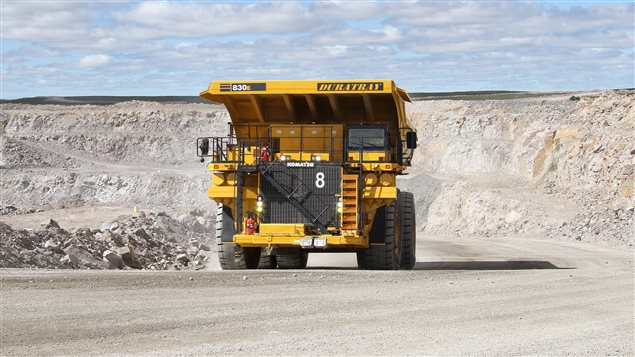 A dump truck operates at the Gahcho Kue mine in the Northwest Territories in a handout photo. THE CANADIAN PRESS/HO-De Beers Group of Companies